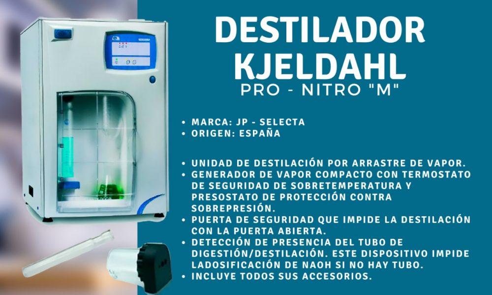 Destilador Kjeldahl