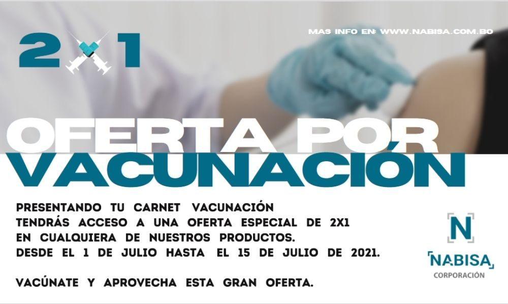 Oferta Vacuna 2x1